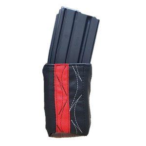 כיסוי מחסנית-שחור בד אדום