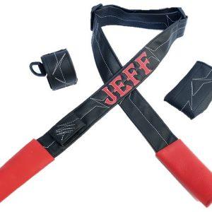 רצועת דמוי עור- שחור אדום דגם LIAM