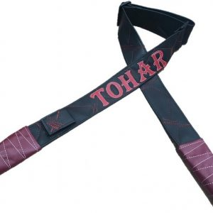 רצועת דמוי עור- שחור בורדו דגם TOHAR