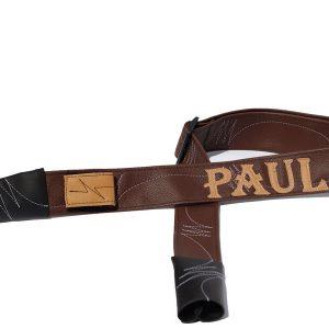רצועת דמוי עור חום כהה דגם PAUL
