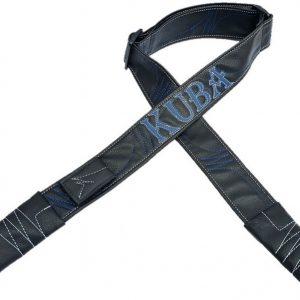 רצועת דמוי עור שחור- כחול לבן דגם KUBA
