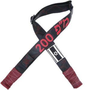 """רצועת דמוי עור- שחור בורדו דגם מ""""פ 200"""