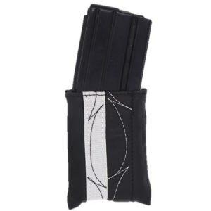 כיסוי מחסנית-שחור בד כסוף