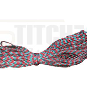 מיתר צניחה אדום תכלת – 5 מטר